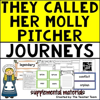 They Called Her Molly Pitcher Journeys 5th Grade Unit 3 Lesson 13 Activities