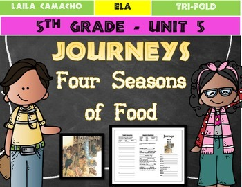 Journeys 5th Grade Trifold (Food for Four Seasons)