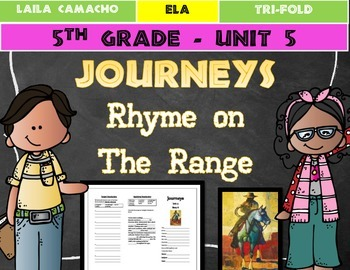 Journeys 5th Grade Trifold (Rhyme on the Range)