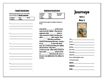 Journeys 5th Grade Trifold (The Birchbark House)