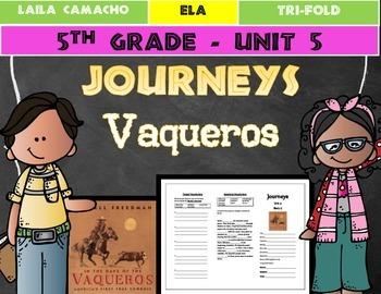Journeys 5th Grade Trifold (Vaqueros: America's First Cowboys)
