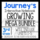 Journeys 3rd Grade UNITS 1-5 MEGA GROWING BUNDLE Interactive Notebook