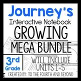 Journeys 3rd Grade UNITS 1-5 MEGA GROWING BUNDLE Interacti