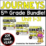 Journeys 5th Grade Unit 1-3 Half Year Bundle Supplemental Materials 2011