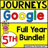 Journeys 5th Grade Unit 1-6 Google Classroom Bundle 2014 | Distance Learning