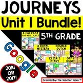 Journeys 5th Grade Unit 1 Google Activities Bundle   2014   Distance Learning
