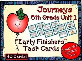 Journeys 5th Grade Unit 1 Task Cards for Centers and Small Groups 2011 version