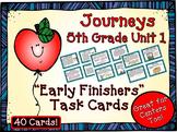 Journeys 5th Grade Unit 1 Task Cards Supplemental Materials 2011