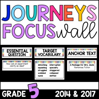 Journeys 5th Grade Unit 1 FOCUS WALL Supplement