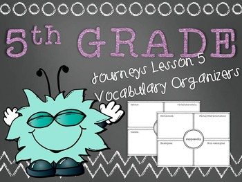 Journeys 5th Grade Unit 1 Lesson 5 Vocabulary Frayer Graphic Organizer