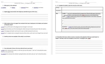 Journeys 5th Grade Unit 1 Reading Comprehension & Skills + Vocabulary