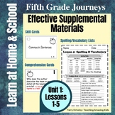 5th Grade Journeys - Unit 1: Effective Supplemental Materials