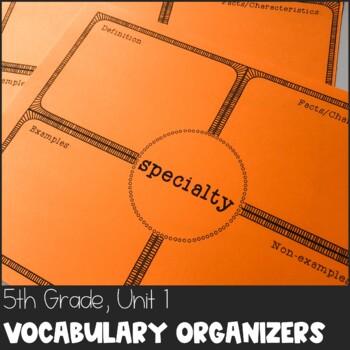 Journeys 5th Grade Unit 1 Vocabulary Frayer Organizer Bundle with SMART Notebook