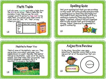 Journeys 5th Grade Unit 2 Task Cards Supplemental Materials 2011