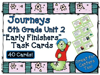 Journeys 5th Grade Unit 2 Early Finishers Task Cards 2011