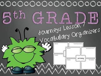 Journeys 5th Grade Unit 2 Lesson 7 Vocabulary Frayer Graphic Organizer