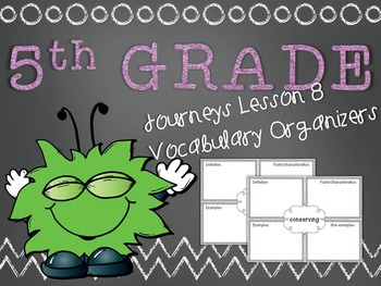 Journeys 5th Grade Unit 2 Lesson 8 Vocabulary Frayer Graphic Organizer