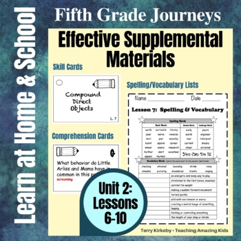 Journeys 5th Grade - Unit 2 Student Study Guides & Activities for Lessons 6-10