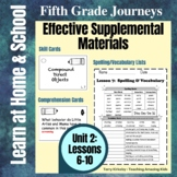 5th Grade Journeys - Unit 2: Effective Supplemental Materials