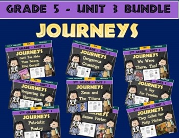Journeys 5th Grade Unit 3 BUNDLE