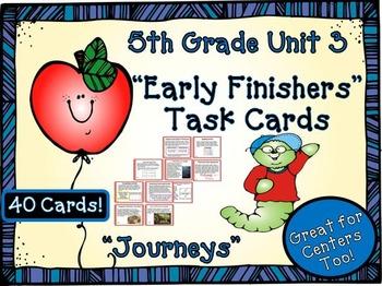 Journeys 5th Grade Unit 3 Task Cards Supplemental Materials 2011 version