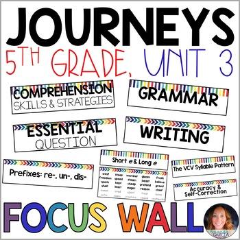Journeys 5th Grade Unit 3 FOCUS WALL Supplement 2014/2017