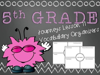 Journeys 5th Grade Unit 3 Lesson 11 Vocabulary Frayer Graphic Organizer