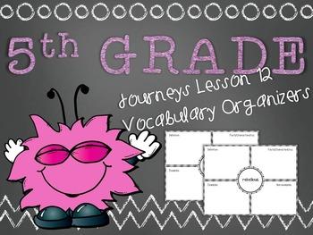 Journeys 5th Grade Unit 3 Lesson 12 Vocabulary Frayer Graphic Organizer