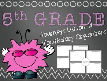 Journeys 5th Grade Unit 3 Lesson 14 Vocabulary Frayer Graphic Organizer