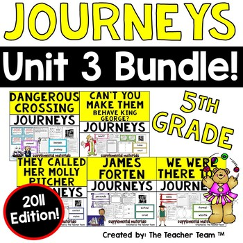 """Journeys 5th Grade Unit 3 """"Revolution!"""" Supplemental Mater"""