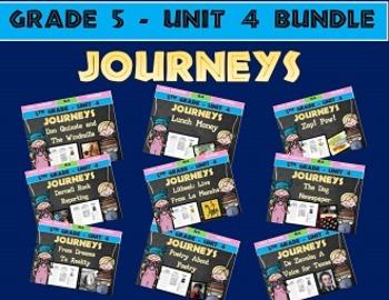Journeys 5th Grade Unit 4 BUNDLE