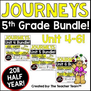 Journeys 5th Grade Unit 4-6 Half Year Supplemental Activities & Printables 2011