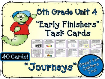Journeys 5th Grade Unit 4 Task Cards for Centers and Small