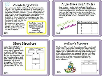 Journeys 5th Grade Unit 4 Task Cards Supplemental Materials 2011