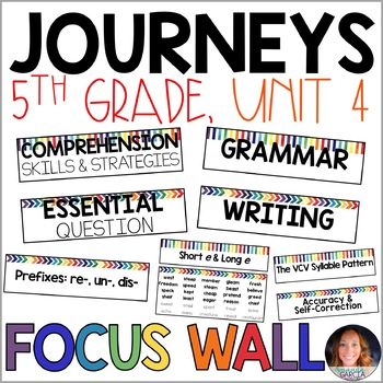 Journeys 5th Grade Unit 4 FOCUS WALL Supplement