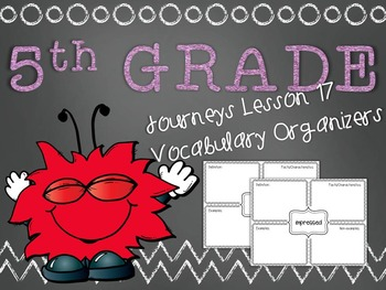 Journeys 5th Grade Unit 4 Lesson 17 Vocabulary Frayer Graphic Organizer Lafff