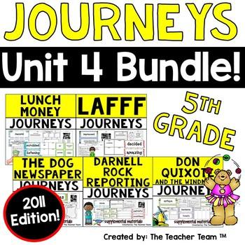 Journeys 5th Grade Unit 4 Supplemental Activities & Printables 2011