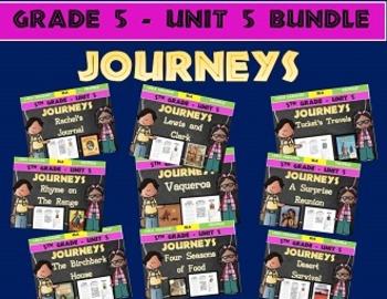 Journeys 5th Grade Unit 5 BUNDLE