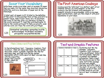 Journeys 5th Grade Unit 5 Task Cards Supplemental Materials 2011