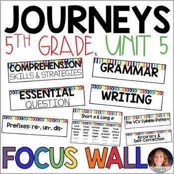 Journeys 5th Grade Unit 5 FOCUS WALL Supplement