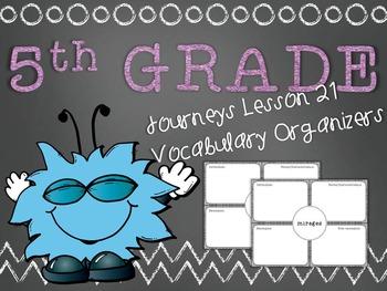 Journeys 5th Grade Unit 5 Lesson 21 Vocabulary Frayer Graphic Organizer