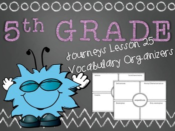 Journeys 5th Grade Unit 5 Lesson 25 Vocabulary Frayer Graphic Organizer