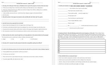 Journeys 5th Grade Unit 5 Reading Comprehension & Skills W