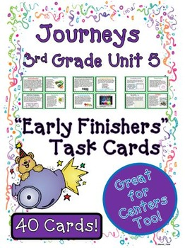 Journeys 3rd Grade Unit 6 Task Cards for Centers and Small