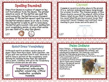 Journeys 5th Grade Unit 6 Task Cards Supplemental Materials 2011