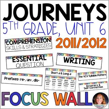 Journeys 5th Grade Unit 6 FOCUS WALL Supplement 2011/2012
