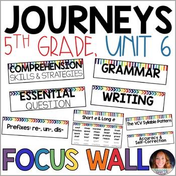 Journeys 5th Grade Unit 6 FOCUS WALL Supplement 2014/2017