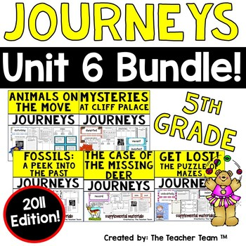 Journeys 5th Grade Unit 6 Supplemental Activities & Printables 2011