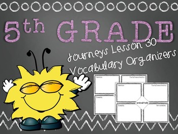 Journeys 5th Grade Unit 6 Lesson 30 Vocabulary Frayer Graphic Organizer