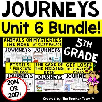 Journeys 5th Grade Unit 6 Supplemental Activities & Printables CC  2014